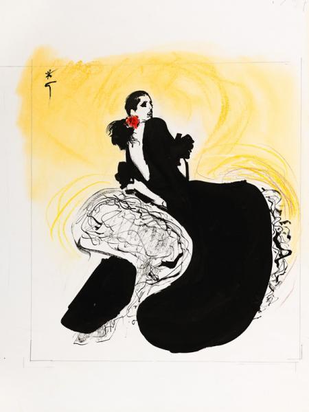 Danseuse de flamenco