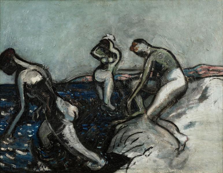 Les baigneuses, vers 1911