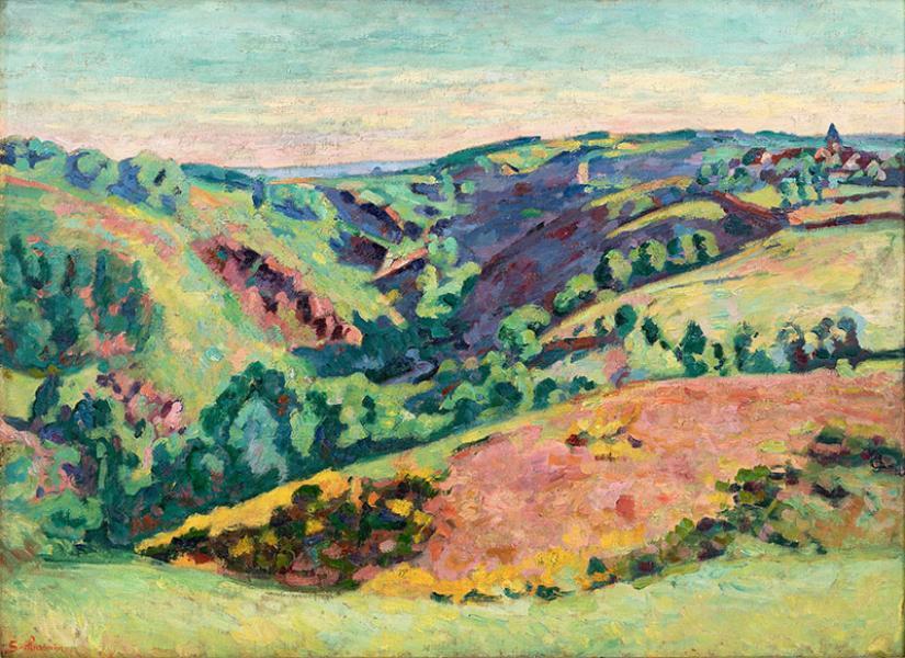 Le village de Crozant, vu de la vallée de la Sédelle »,  mai 1921