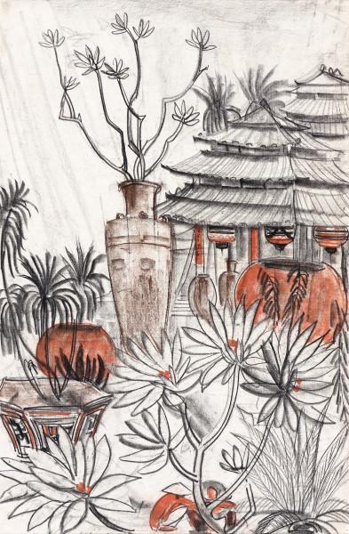 Vietnam, Le jardin de la pagode