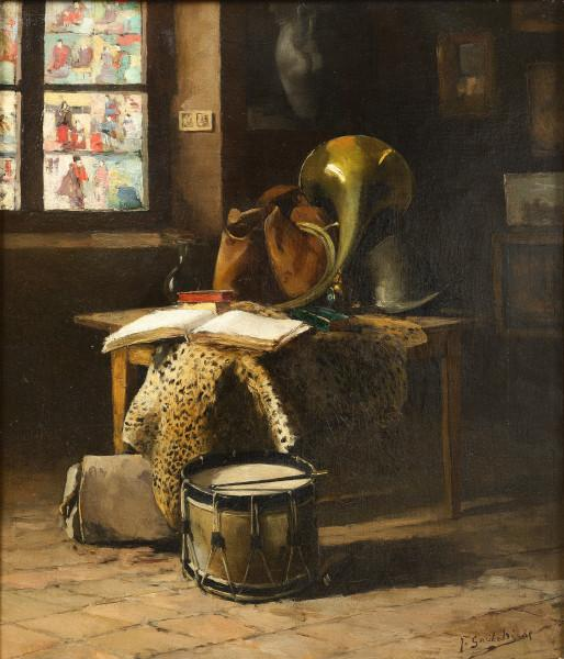 Intérieur au tambour