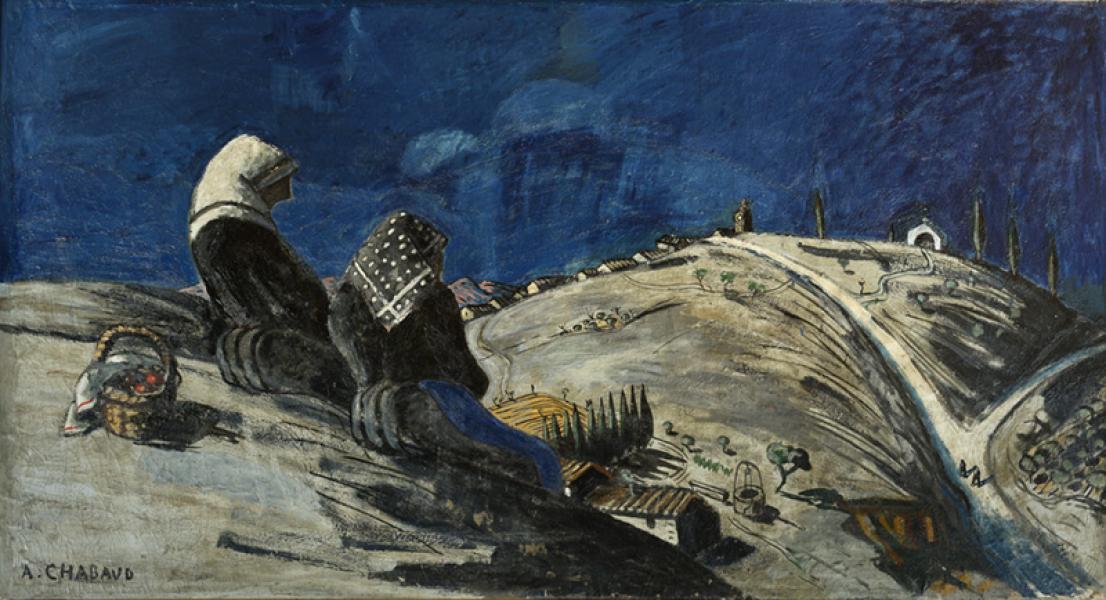Femmes en méditation sur la colline, 1909-1925