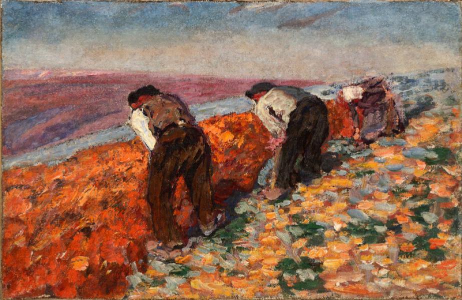 Trois paysans au travail